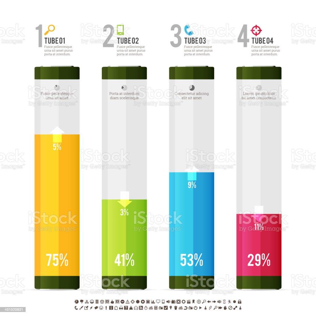 Tube Meter Infographic Elements vector art illustration