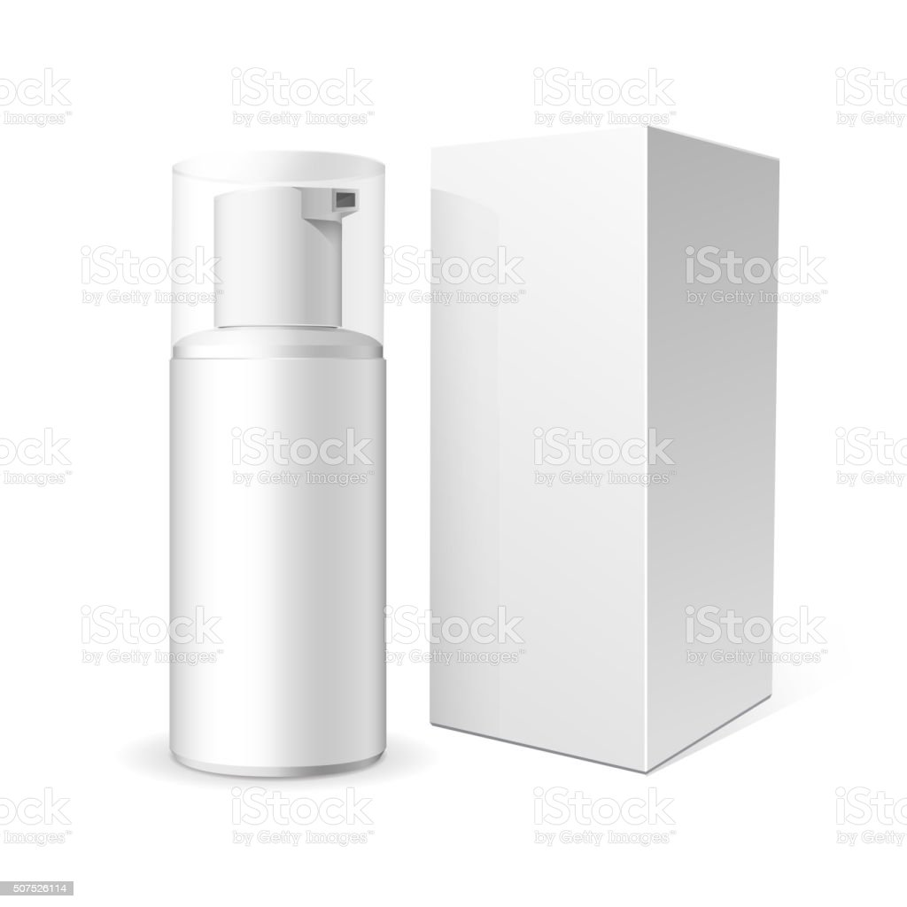 Tube of cream or foam vector art illustration