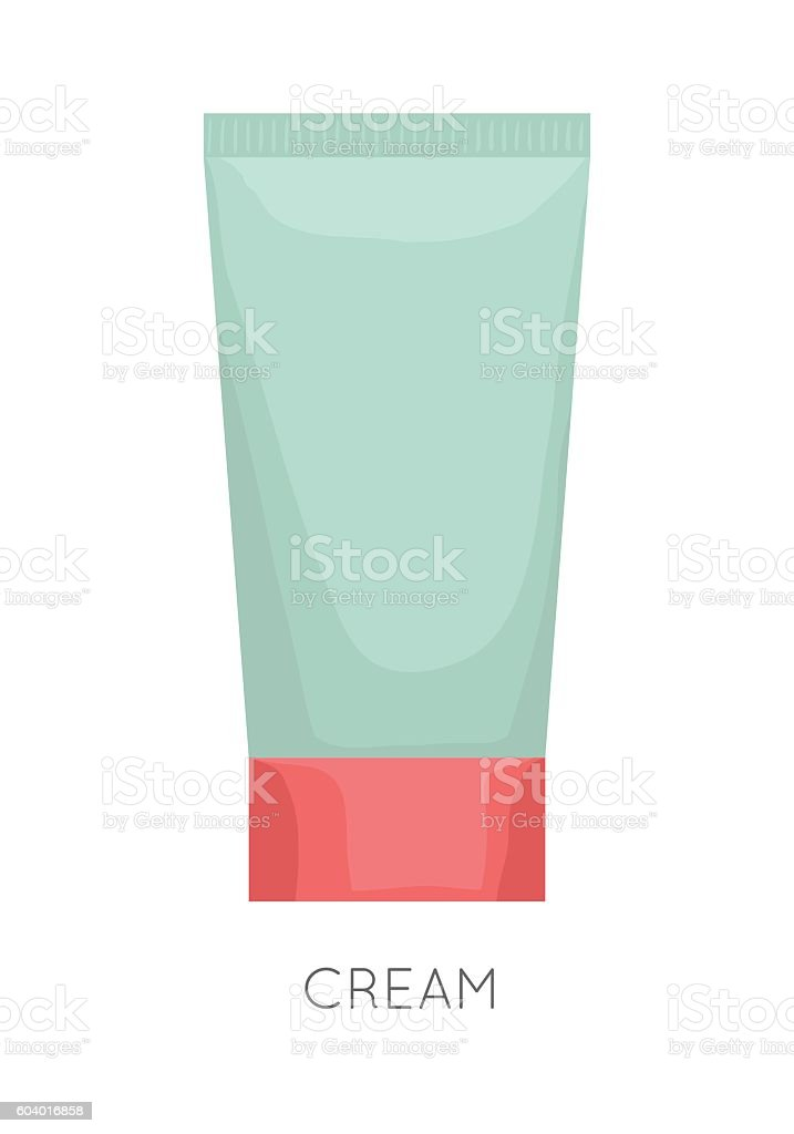 Tube Of Cream vector art illustration