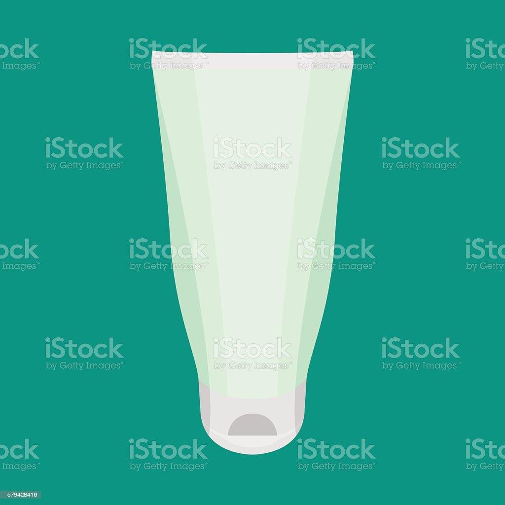 Tube Of Cream Vector vector art illustration