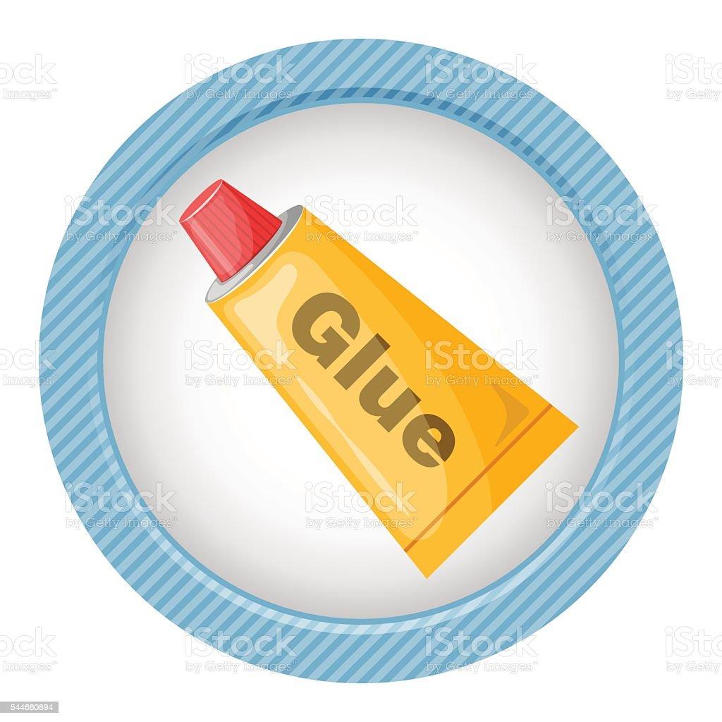 Tube of glue icon vector art illustration