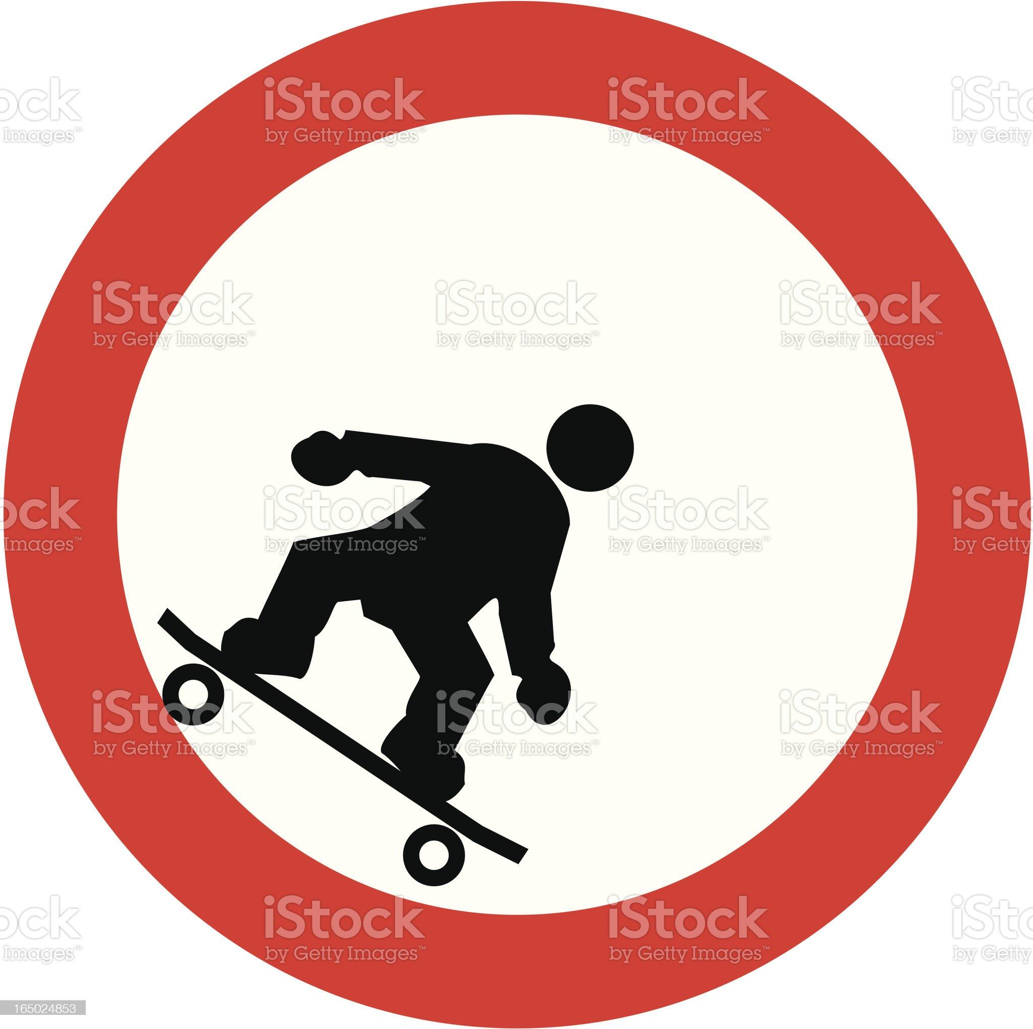 tube skating street sign royalty-free stock vector art