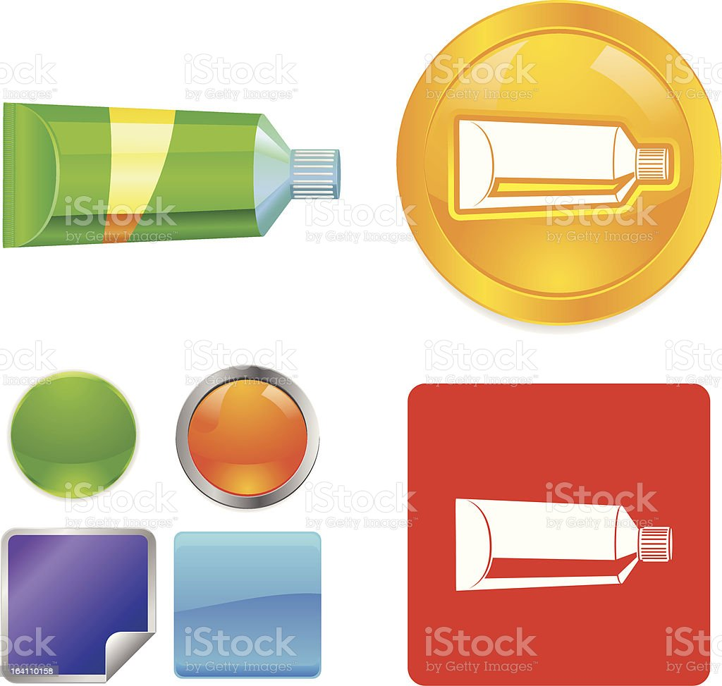 Tube vector icon royalty-free stock vector art