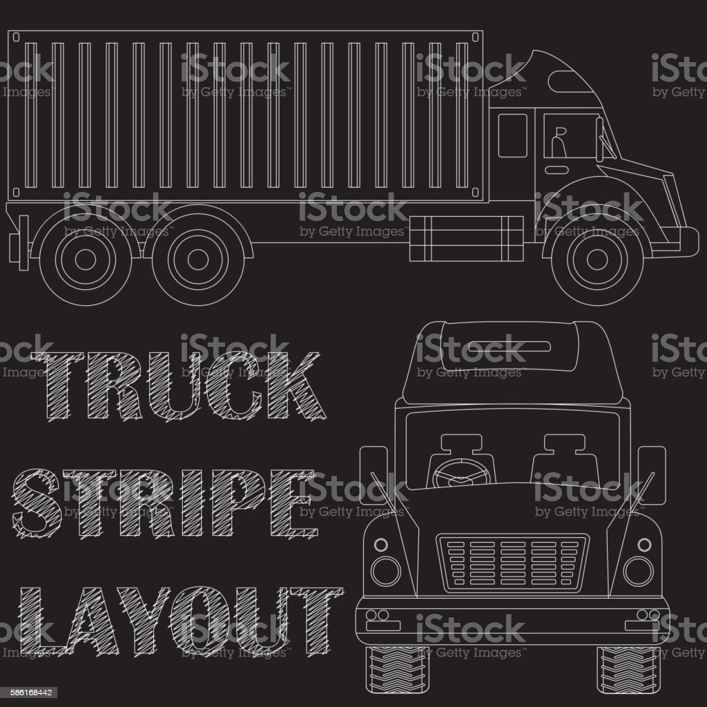 Tuck line art on blackboard vector art illustration