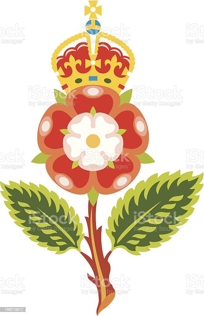 Tudor rose. Royal bage of England royalty-free stock vector art