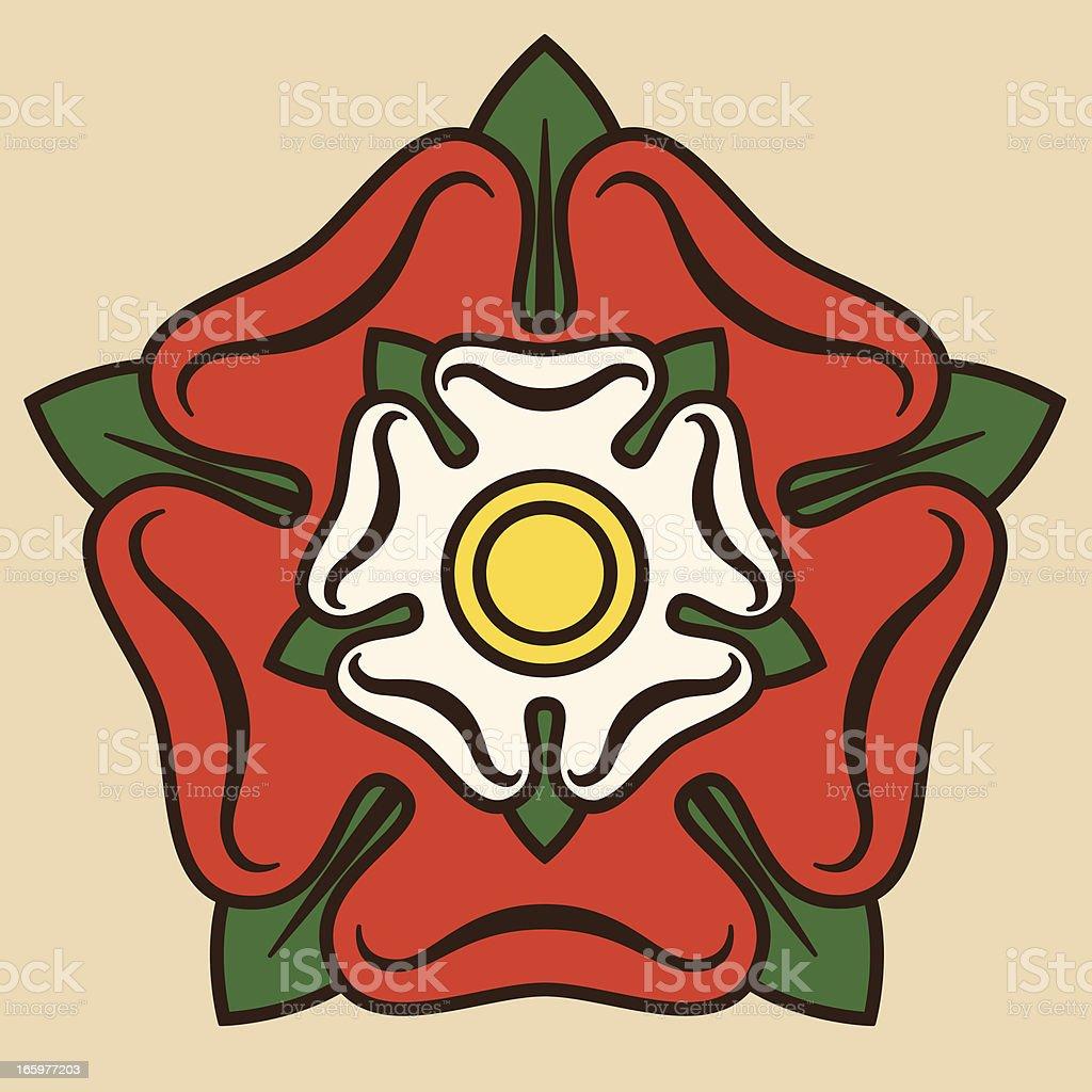 Tudor Rose vector art illustration