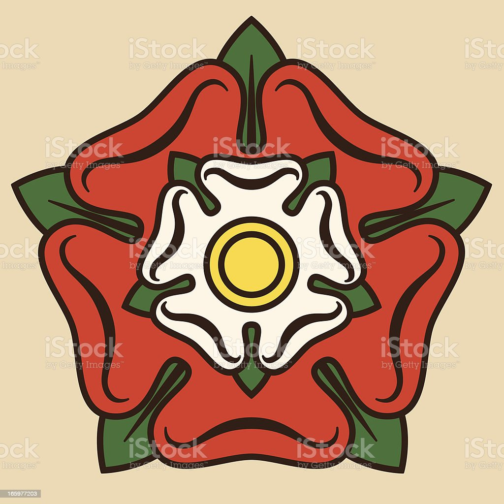 Tudor Rose vector art illustration