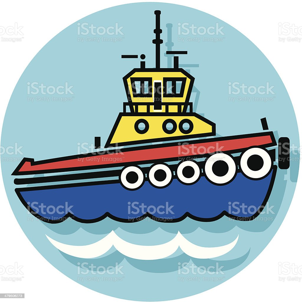 tugboat icon royalty-free stock vector art
