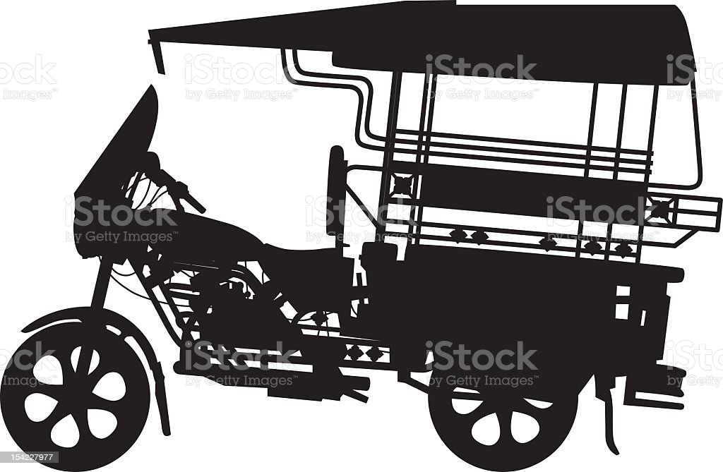 Tuk-tuk royalty-free stock vector art