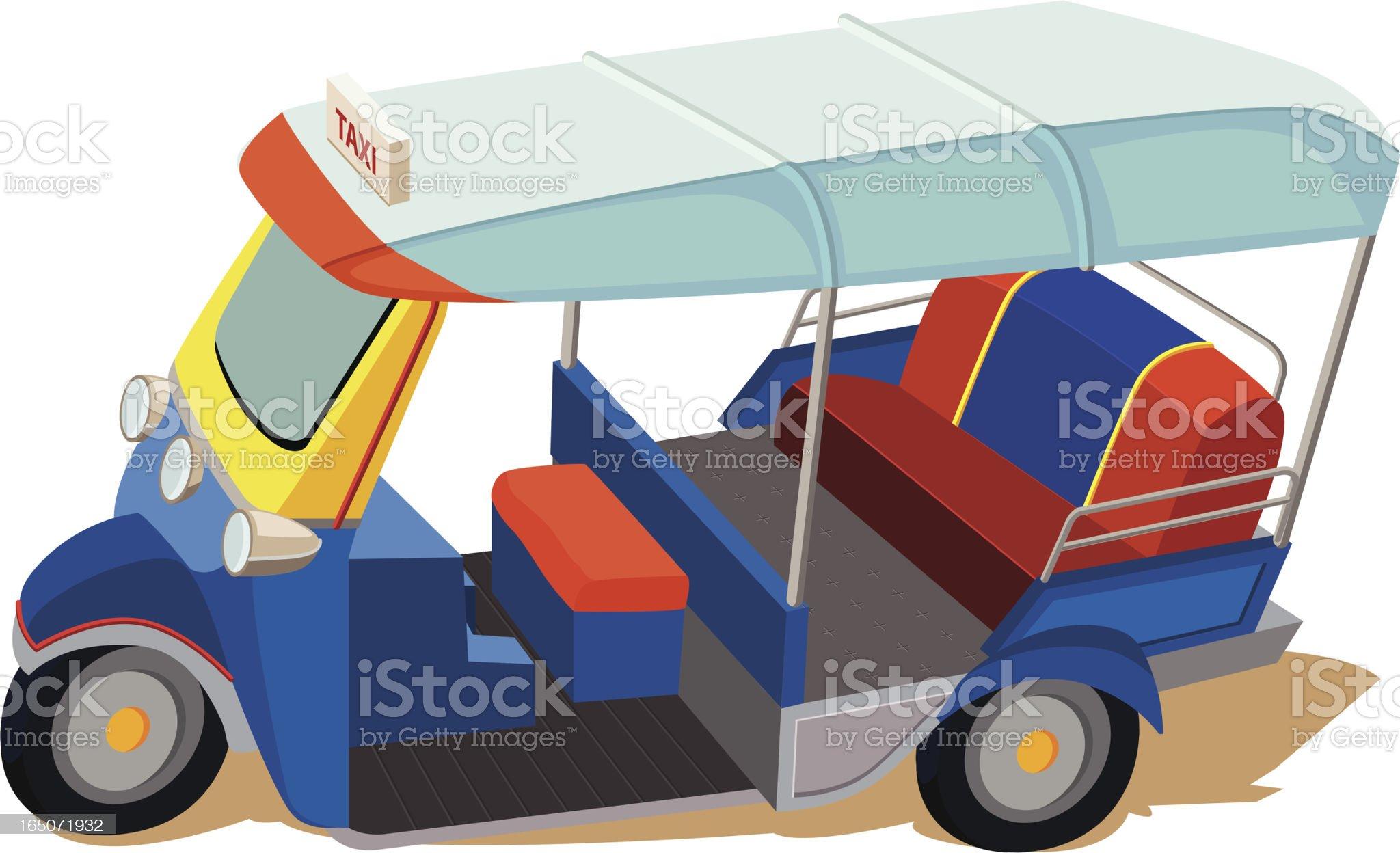 Tuk-Tuk Vehicle royalty-free stock vector art