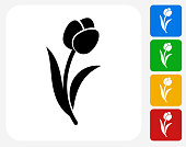 Tulip Icon Flat Graphic Design