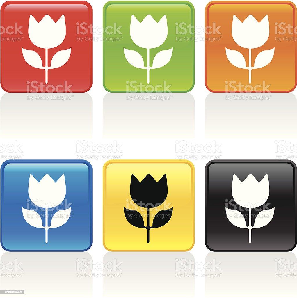 Tulip Icon royalty-free stock vector art