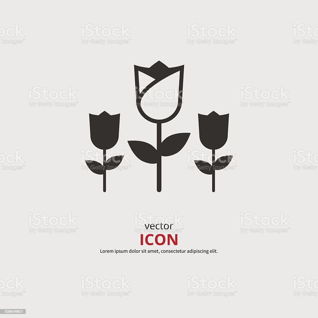 Tulip icon vector art illustration