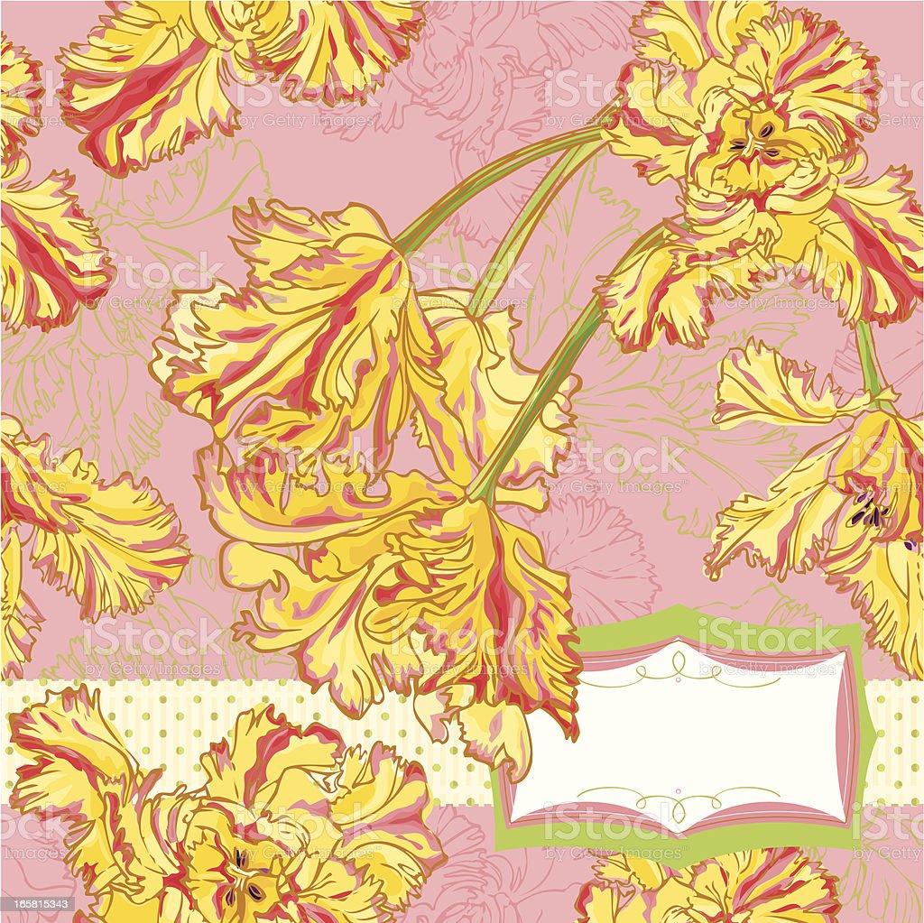 Tulips Invitation royalty-free stock vector art