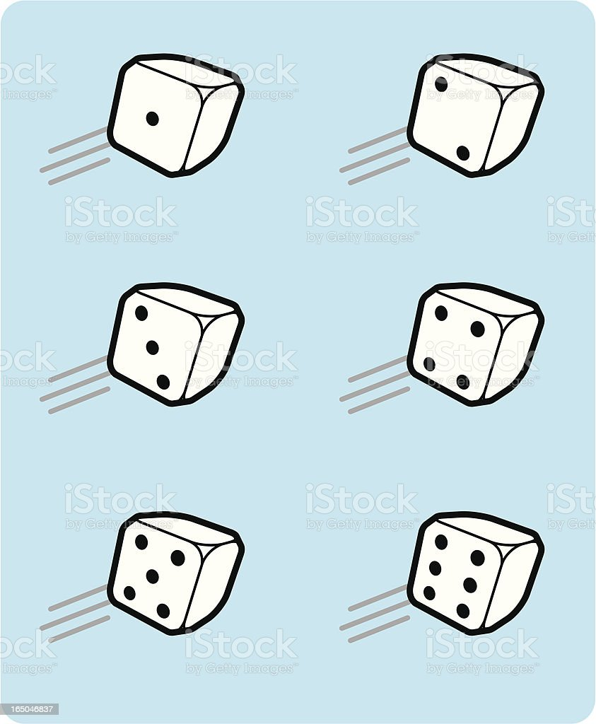 tumbling dices (vector) vector art illustration