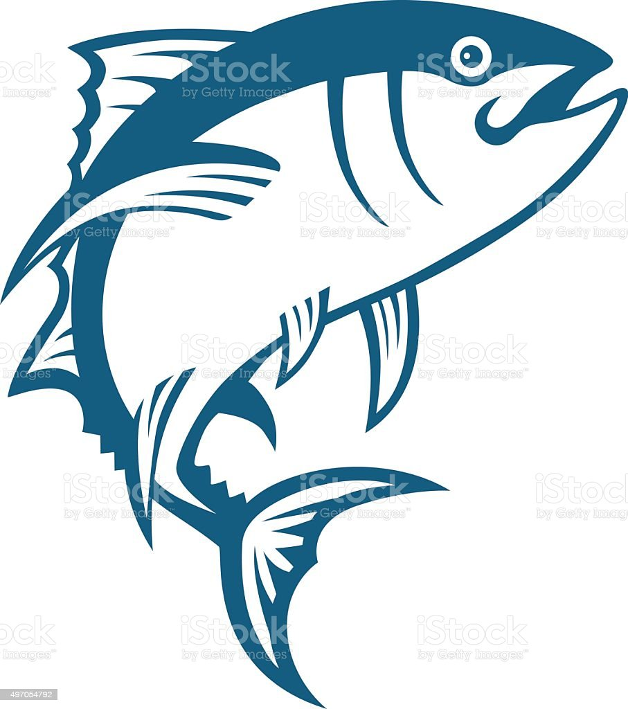 Tuna Blue vector art illustration
