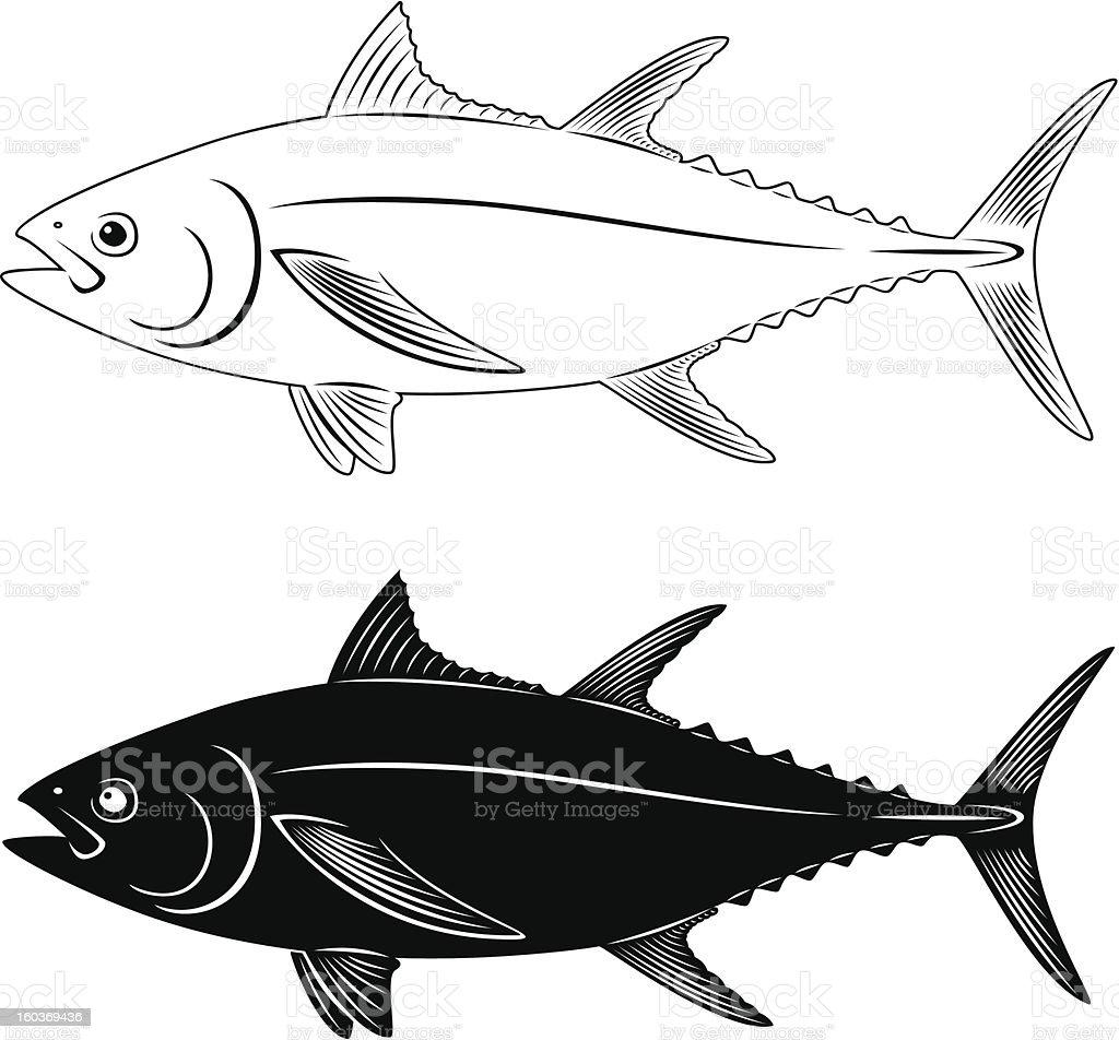 tuna fish royalty-free stock vector art
