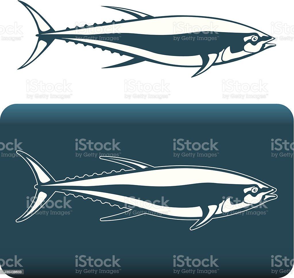 Tuna icons vector art illustration