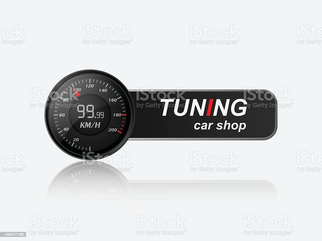 Tuning car shop logo,vector vector art illustration