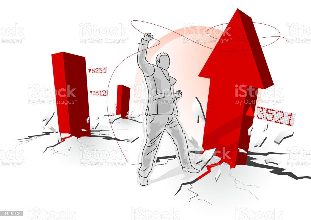 Turbulent Times royalty-free stock vector art