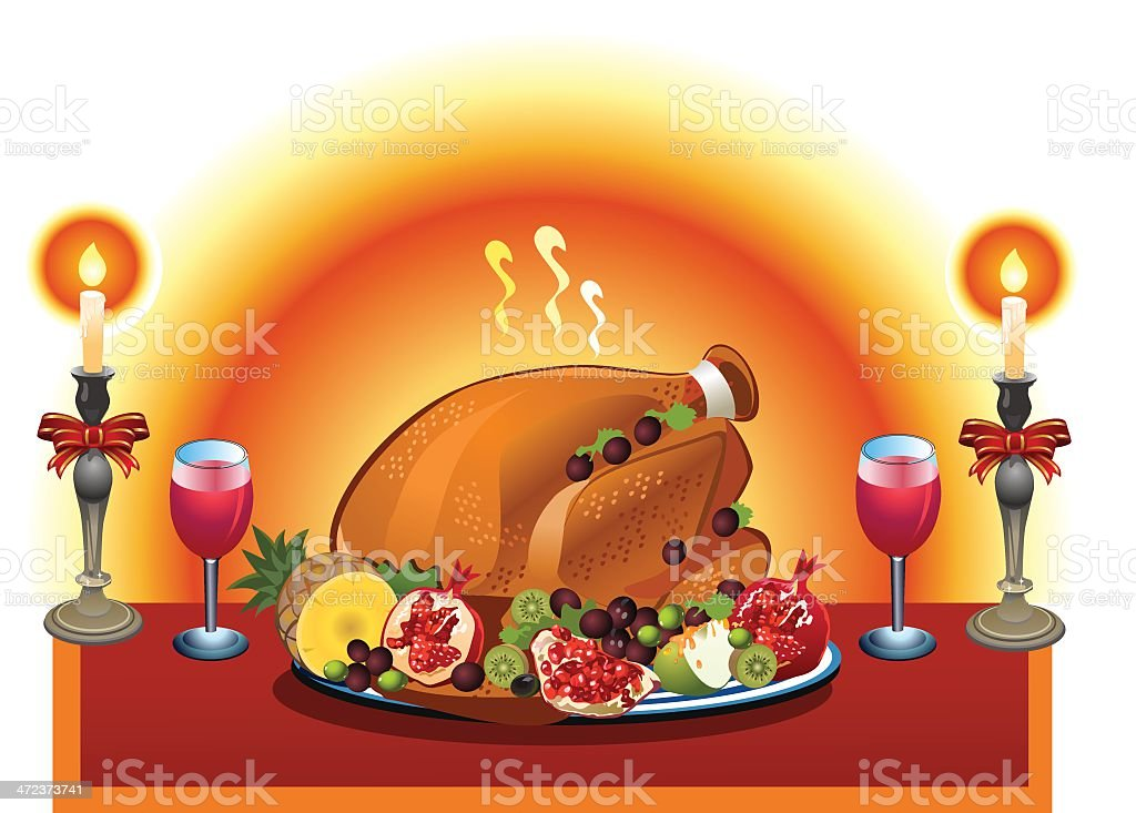 Turkey and cande royalty-free stock vector art