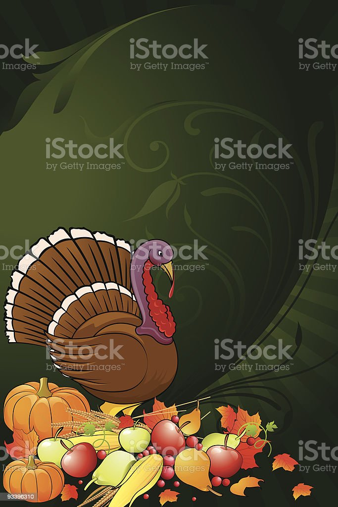 Turkey Background vector art illustration
