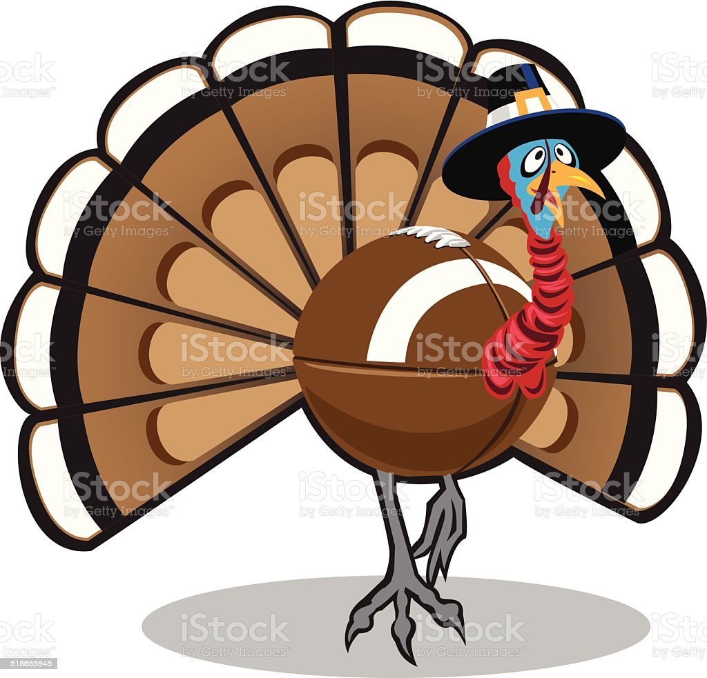 Turkey Ball vector art illustration