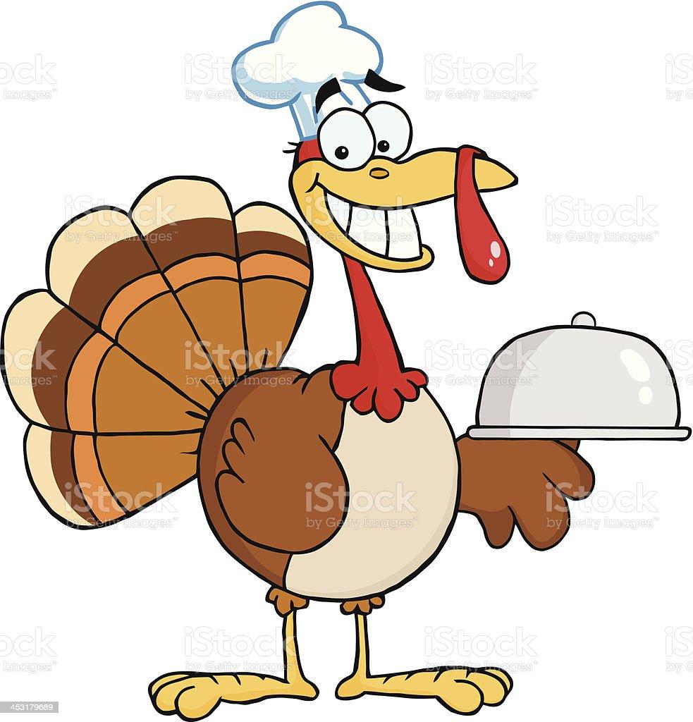 Turkey Chef royalty-free stock vector art