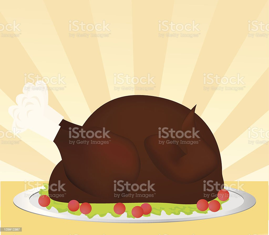 Turkey Dinner royalty-free stock vector art