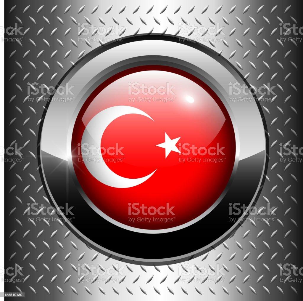 Turkey flag button royalty-free stock vector art