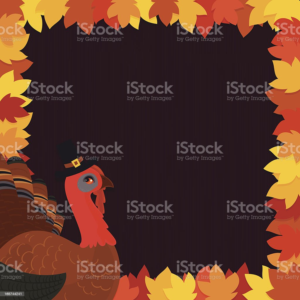 Turkey frame vector art illustration