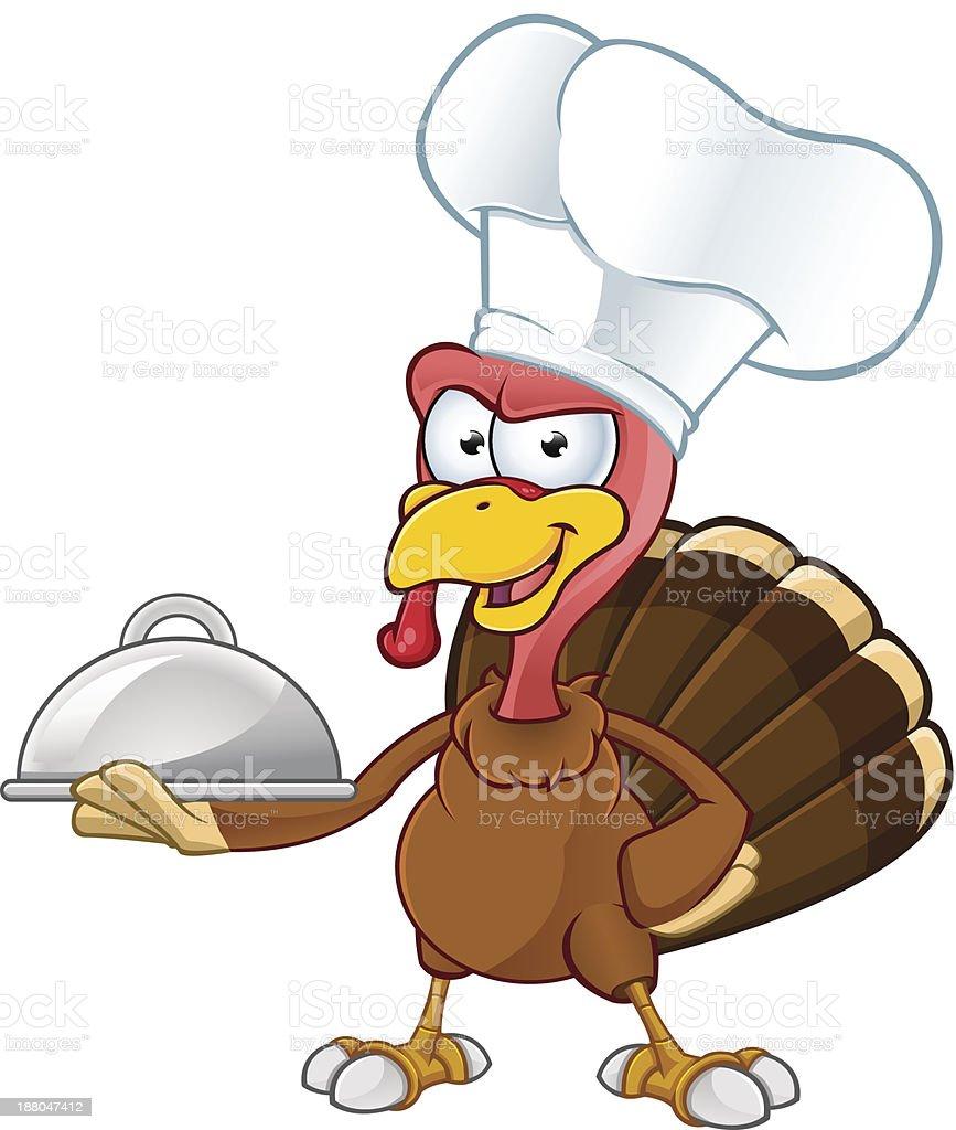 Turkey Mascot - Chef royalty-free stock vector art