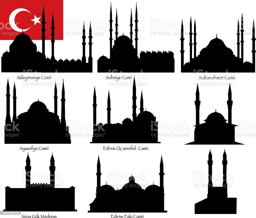 Turkey Mosque vector art illustration