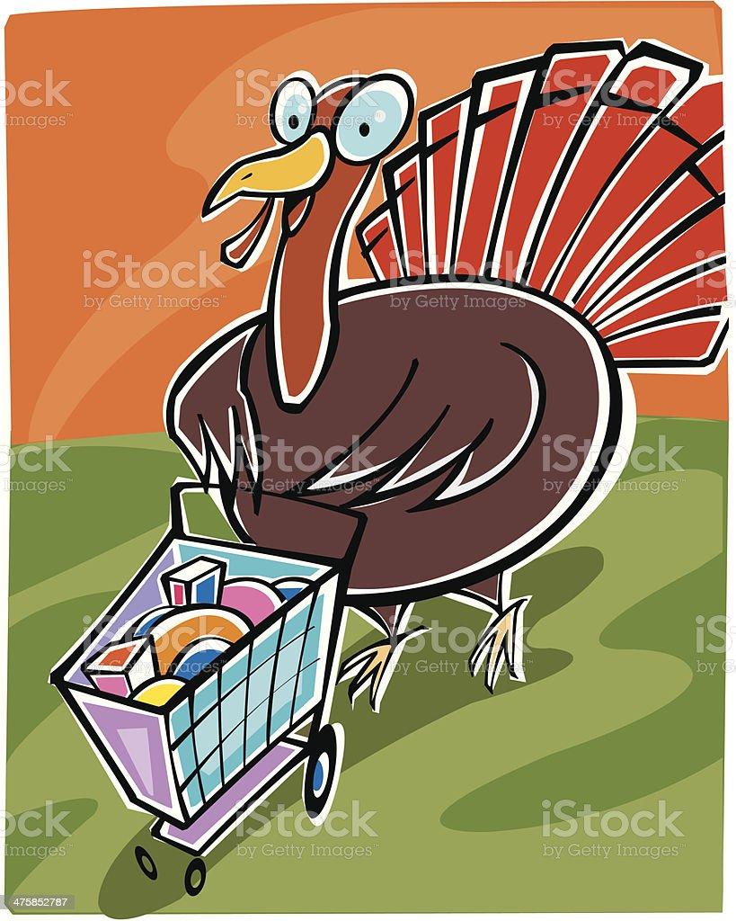 Turkey Shopping C royalty-free stock vector art