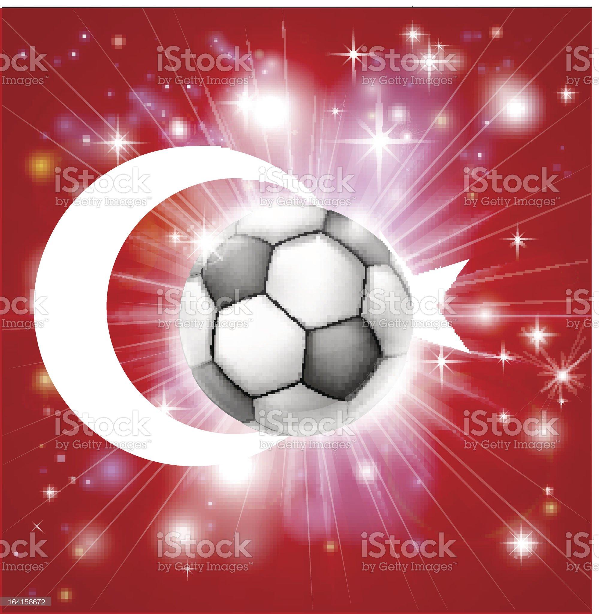 Turkey soccer flag royalty-free stock vector art