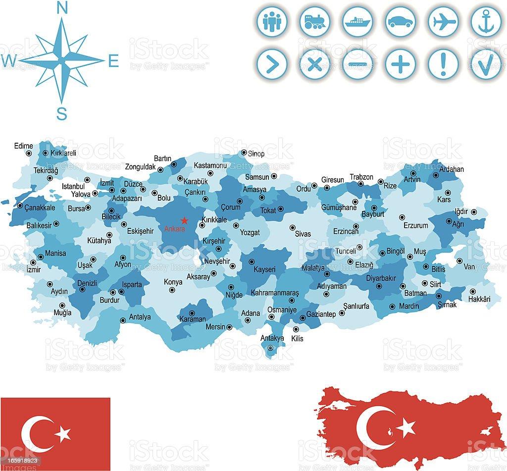 Turkey royalty-free stock vector art