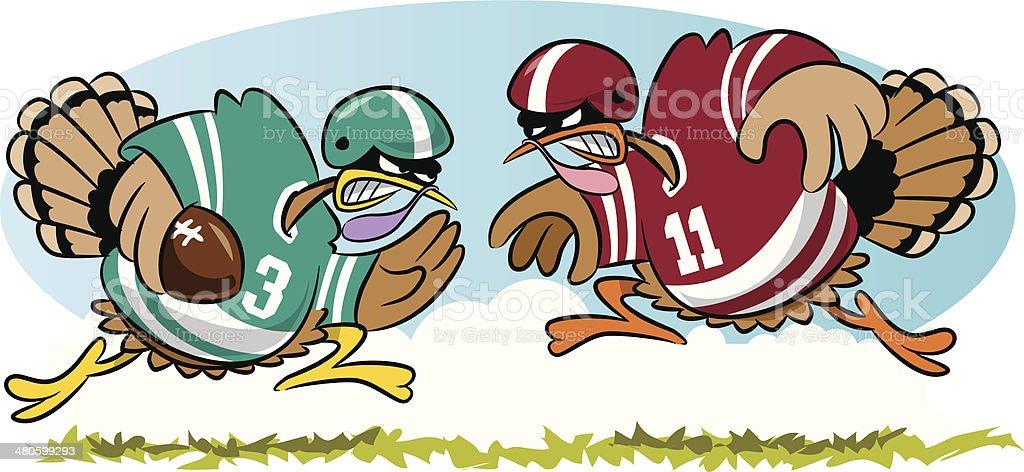 Turkeys Football C vector art illustration