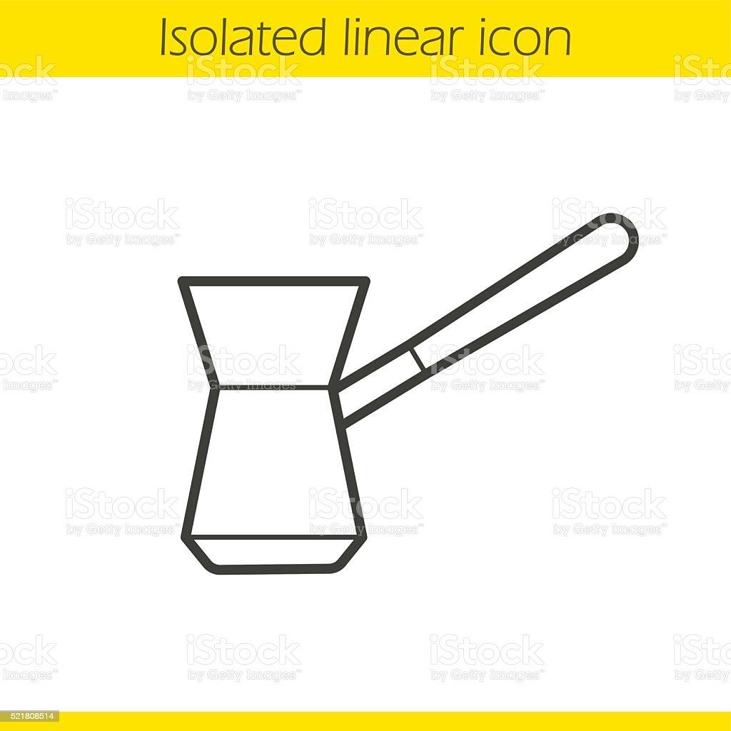 Turkish cezve icon vector art illustration