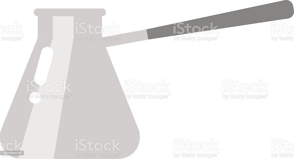 Turkish fishborn coffee pot vector vector art illustration