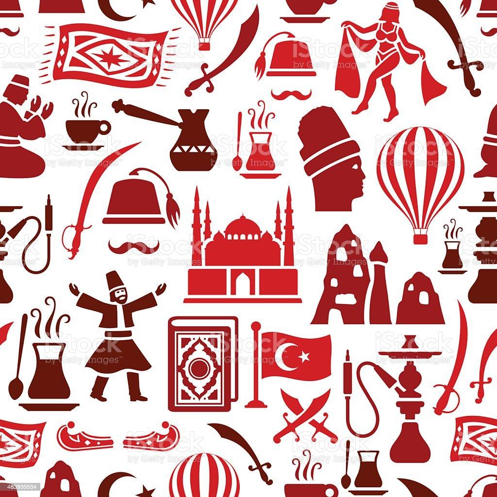 Turkish Pattern vector art illustration
