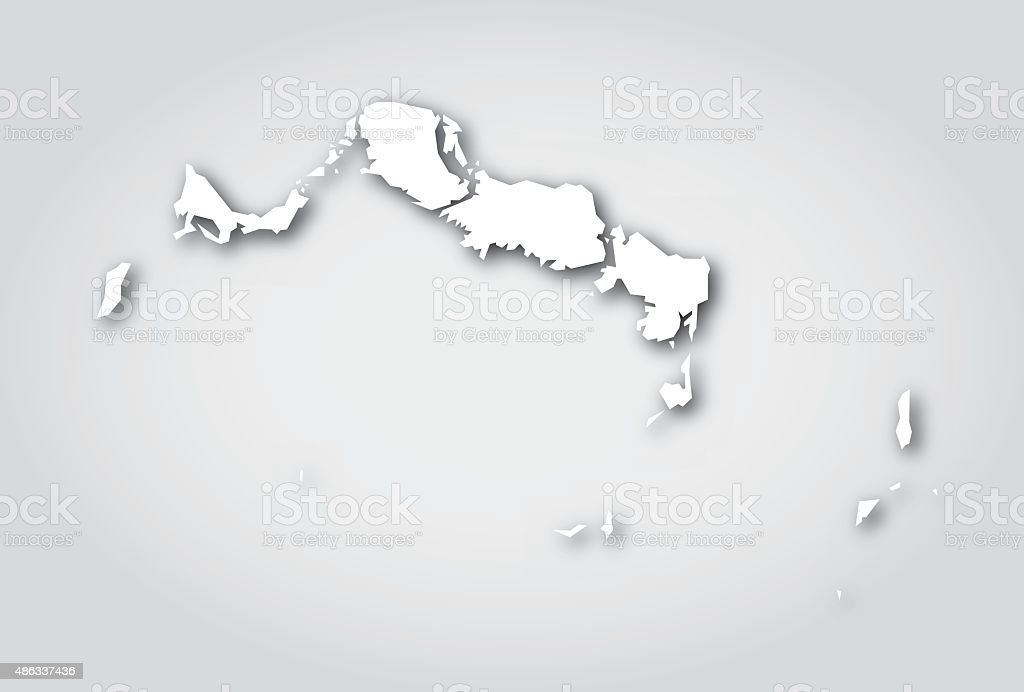 Turks and Caicos Islands Silhouette White vector art illustration