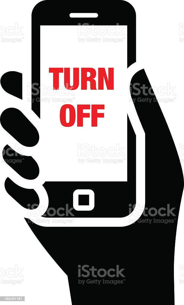 turn off silhouette clip art vector images illustrations istock rh istockphoto com Cell Phone Graphic Cell Phone Clip Art Outline