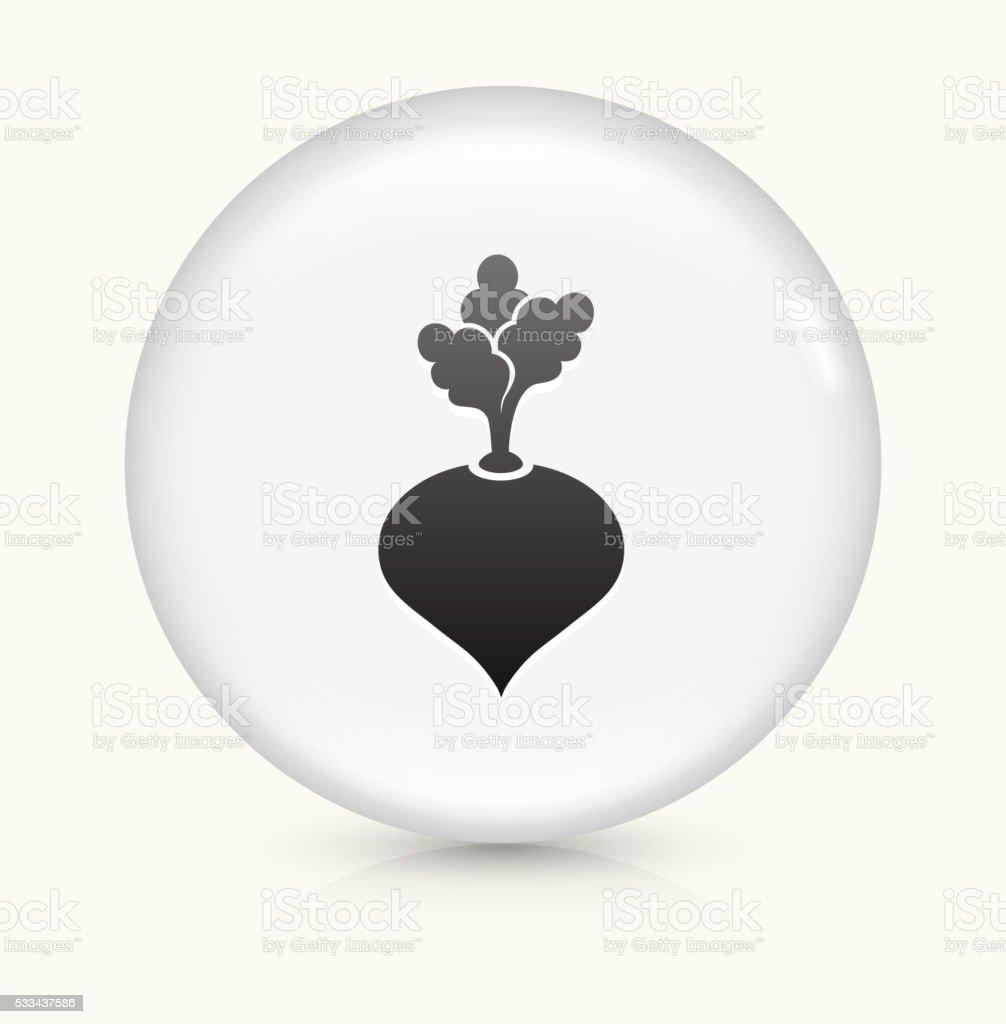 Turnip icon on white round vector button vector art illustration