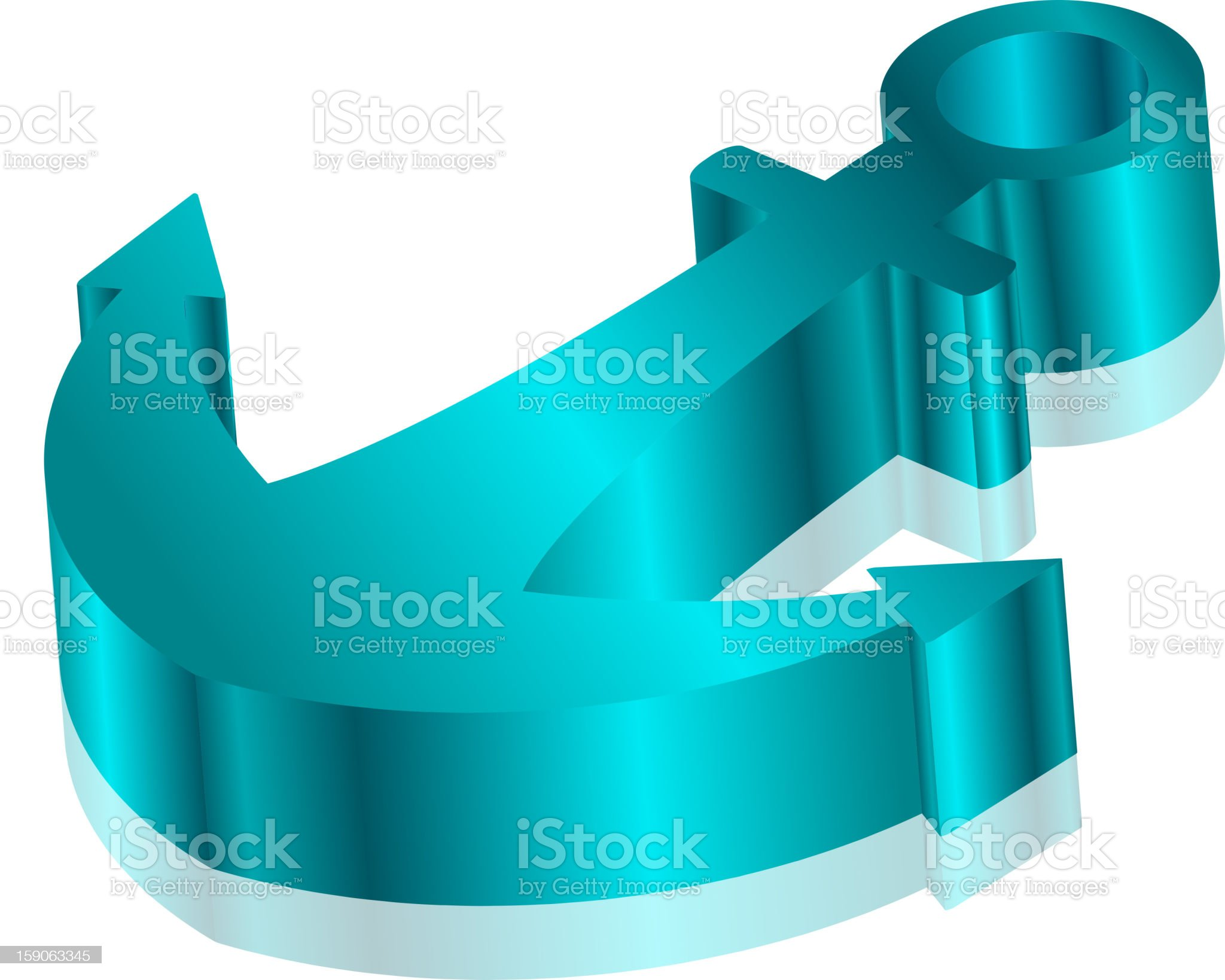 Turquoise anchor royalty-free stock vector art