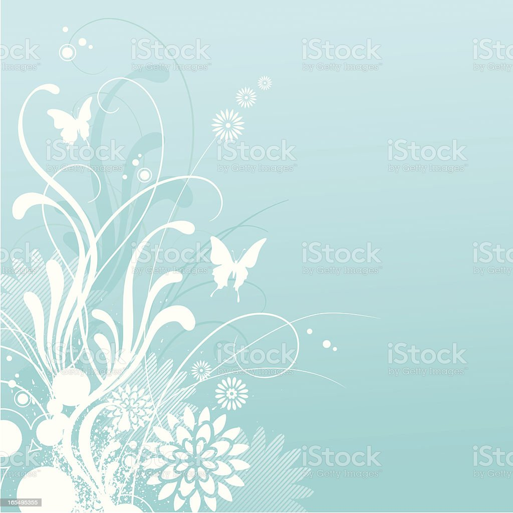 Turquoise Bloom royalty-free stock vector art