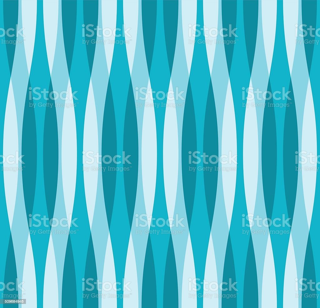 Turquoise Blue and White Wavy Background vector art illustration