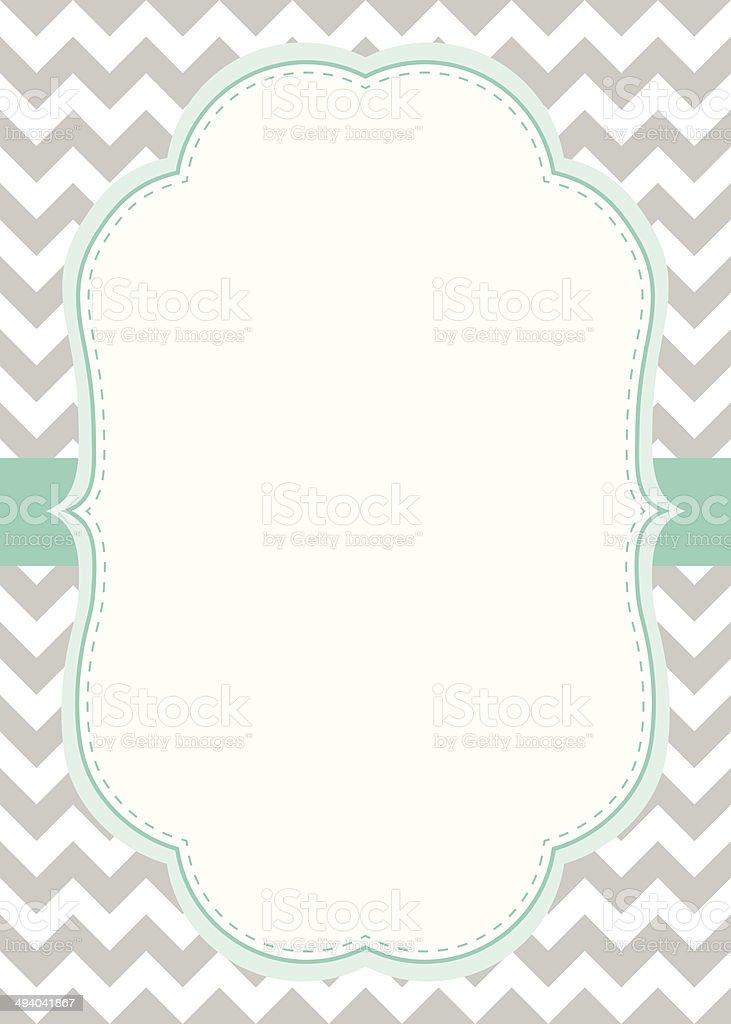 Turquoise & Grey Invitation Card vector art illustration