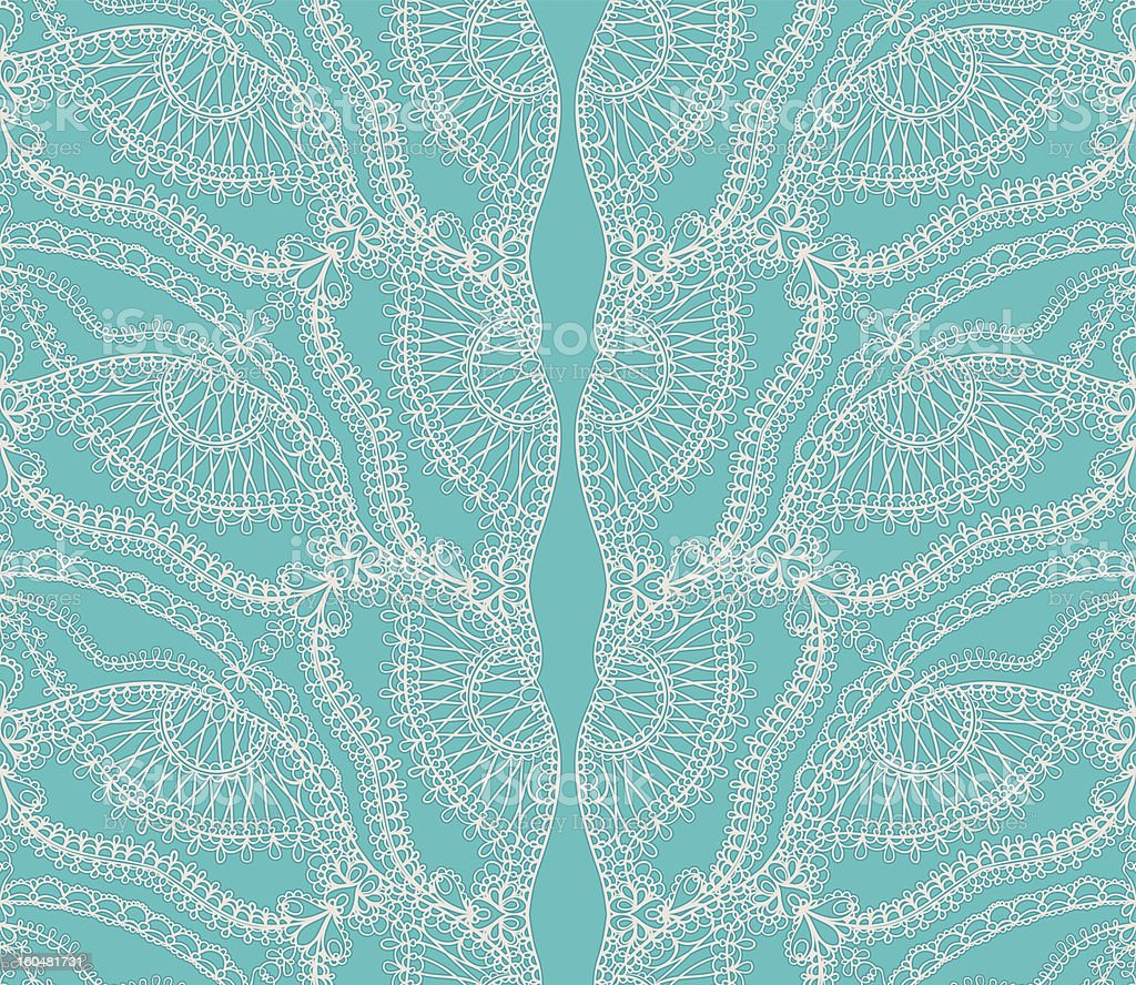 turquoise lace royalty-free stock vector art