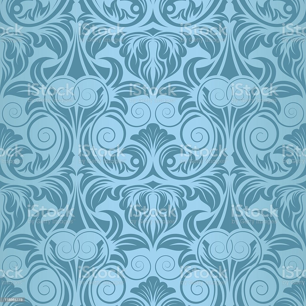 Turquoise seamless wallpaper royalty-free stock vector art
