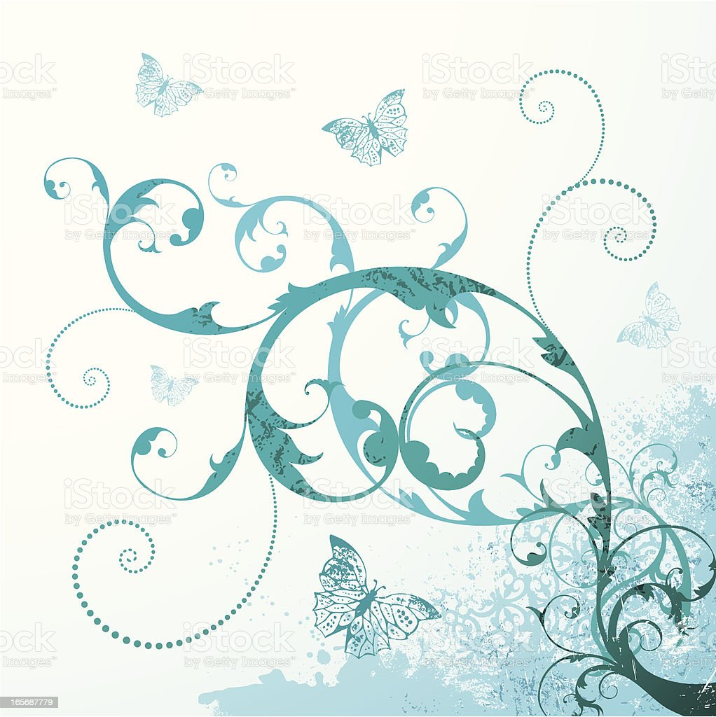 Turquoise Swirls royalty-free stock vector art